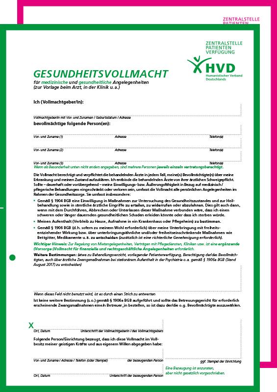 Zentralstelle Patientenverfügung Online Hvd Experte